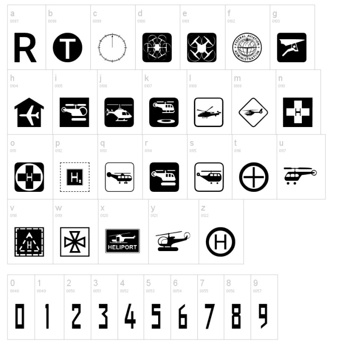 Aviation Font